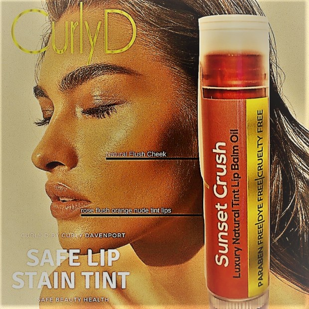 Safe Lip Stain Tint Sunset Crush Curly D