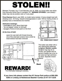 Download a sample stolen trailer flyer- then out fill in the blank doc version