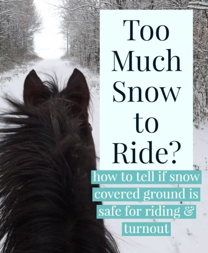 ride and turnout in snow
