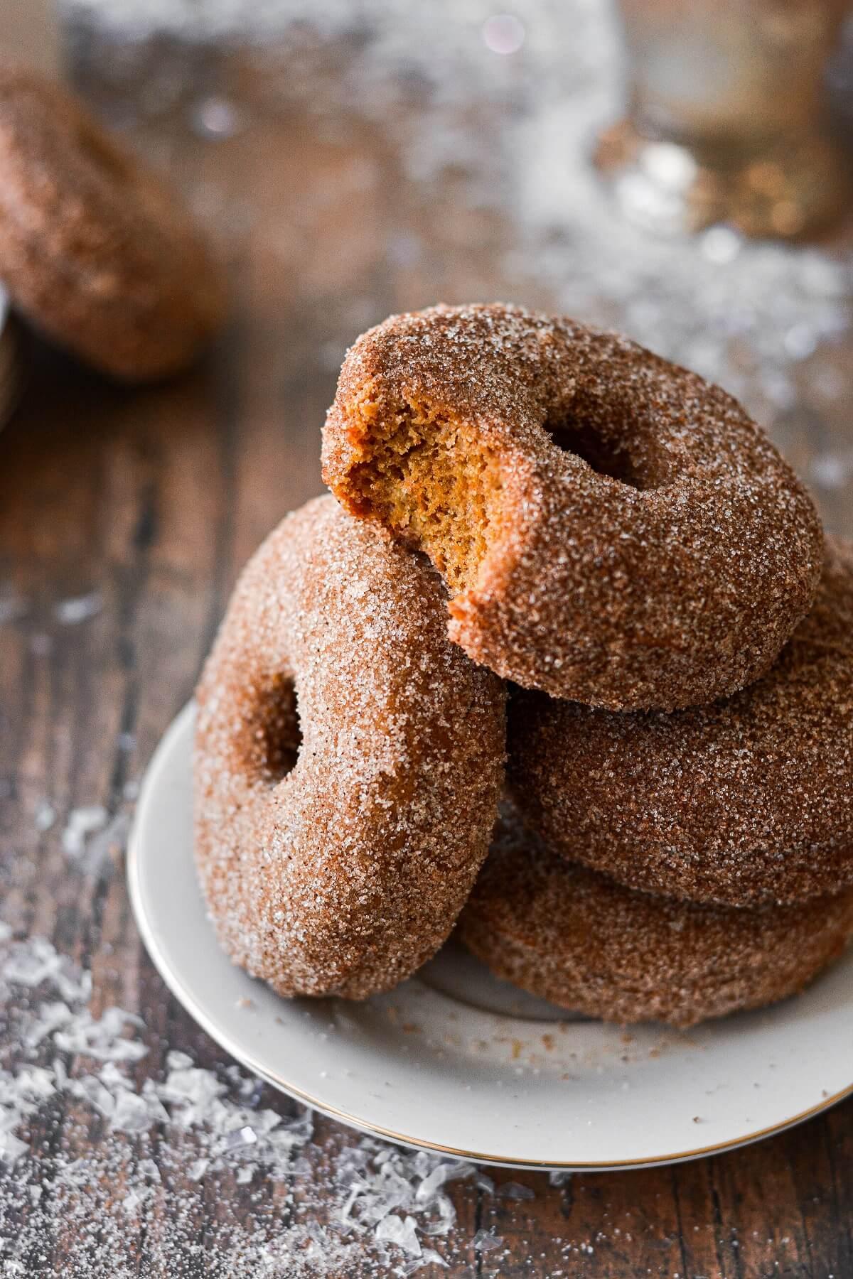Gingerbread Donuts with Cinnamon Sugar
