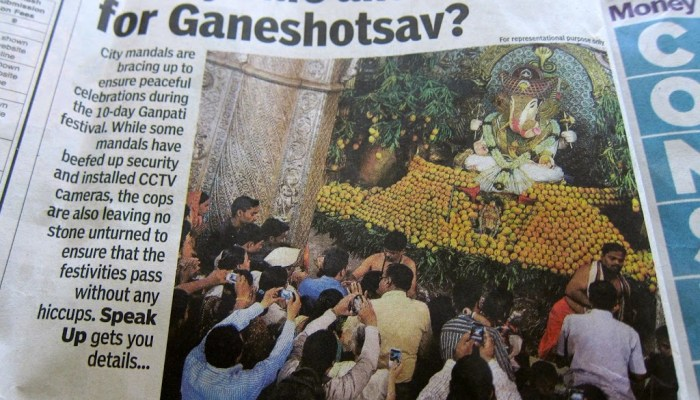 Ganesh Chaturthi 2012, Pune: dangers and safety