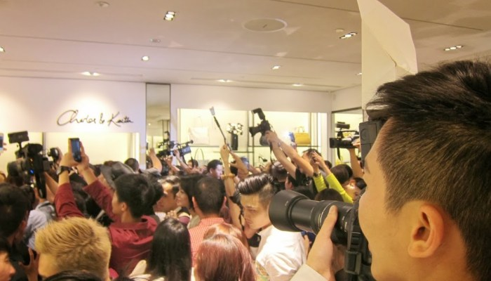 Charles and Keith store opening: celebrities galore