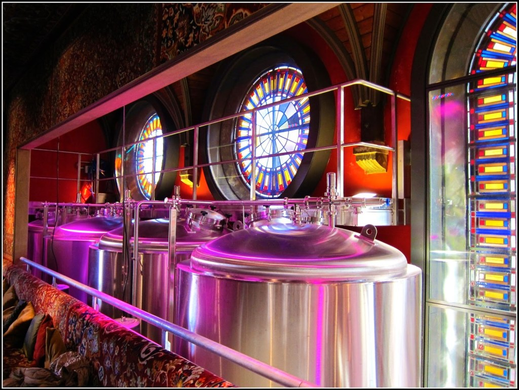 Beer brewery in renovated church in Haarlem.