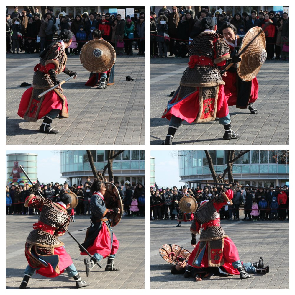 Korean martial arts fighters in duel at N Tower| curlytraveller.com