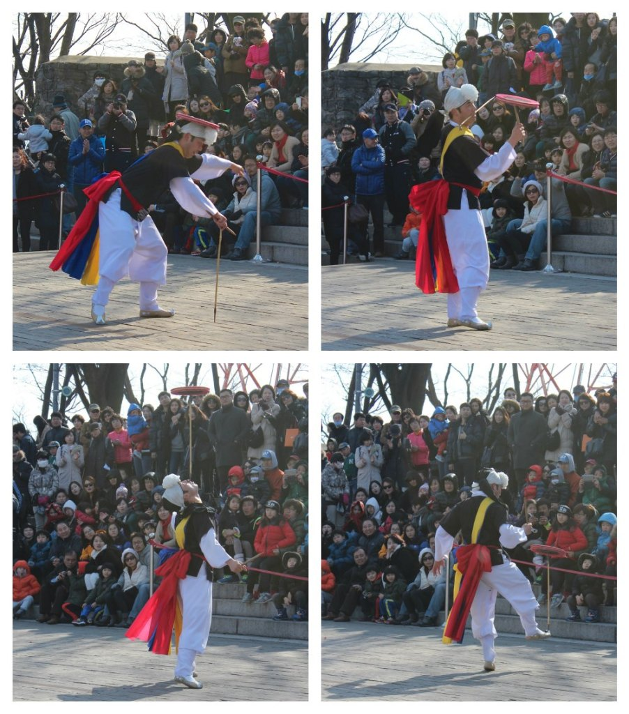 Korean juggler at N Seoul Tower| curlytraveller.com