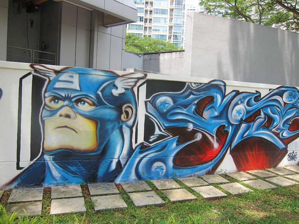 captain america mural youth park singapore
