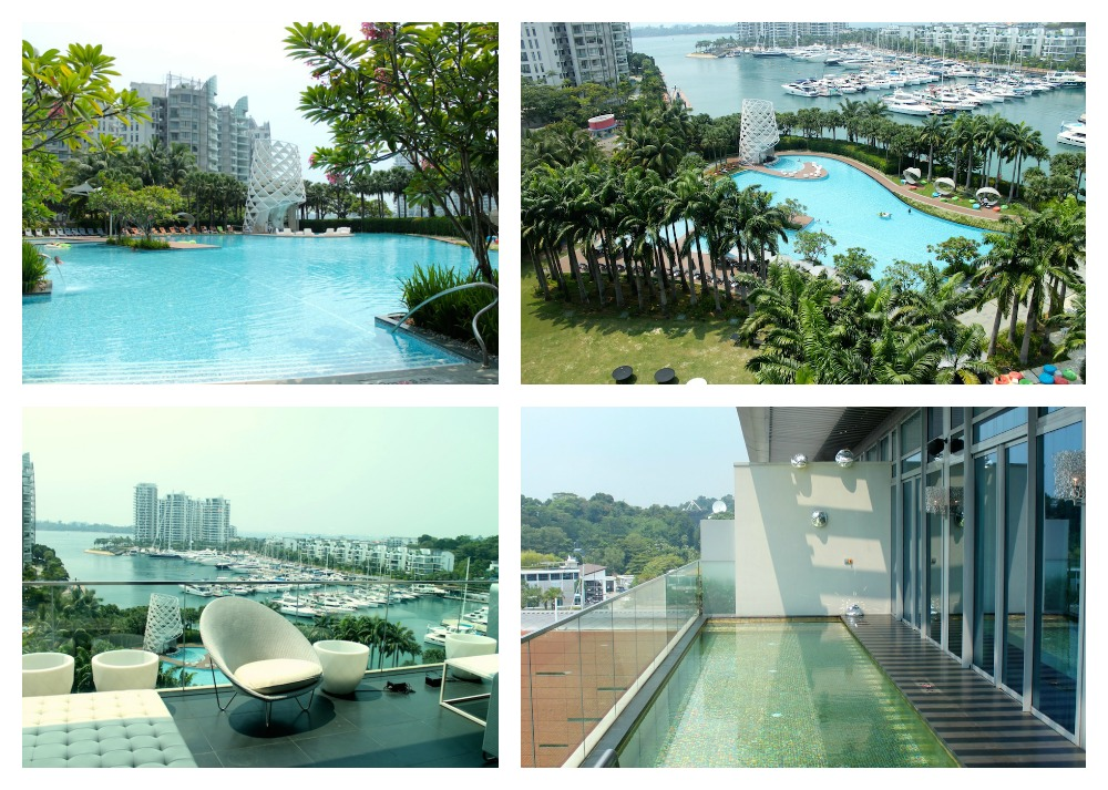 the W Singapore's pool area |curlytraveller.com