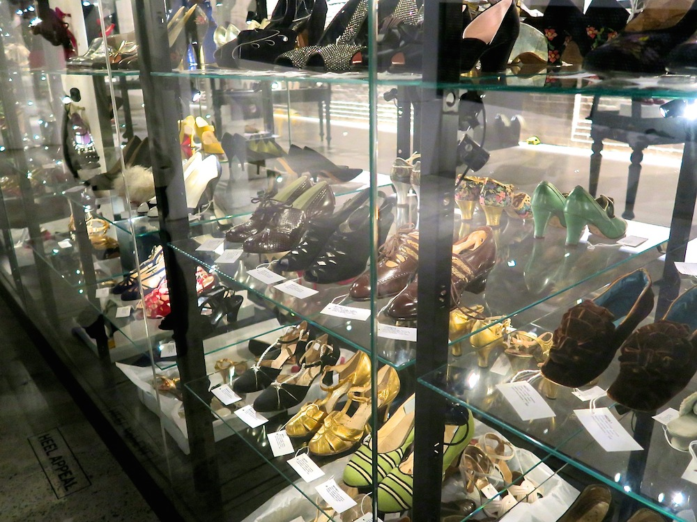 Part of shoe collection at Powerhouse Museum|curytraveller.com