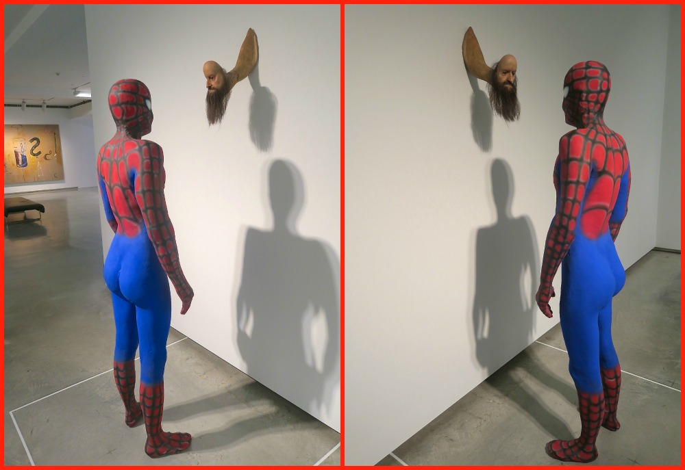 Spiderman and worm-figurine MCA |curlytraveller.com