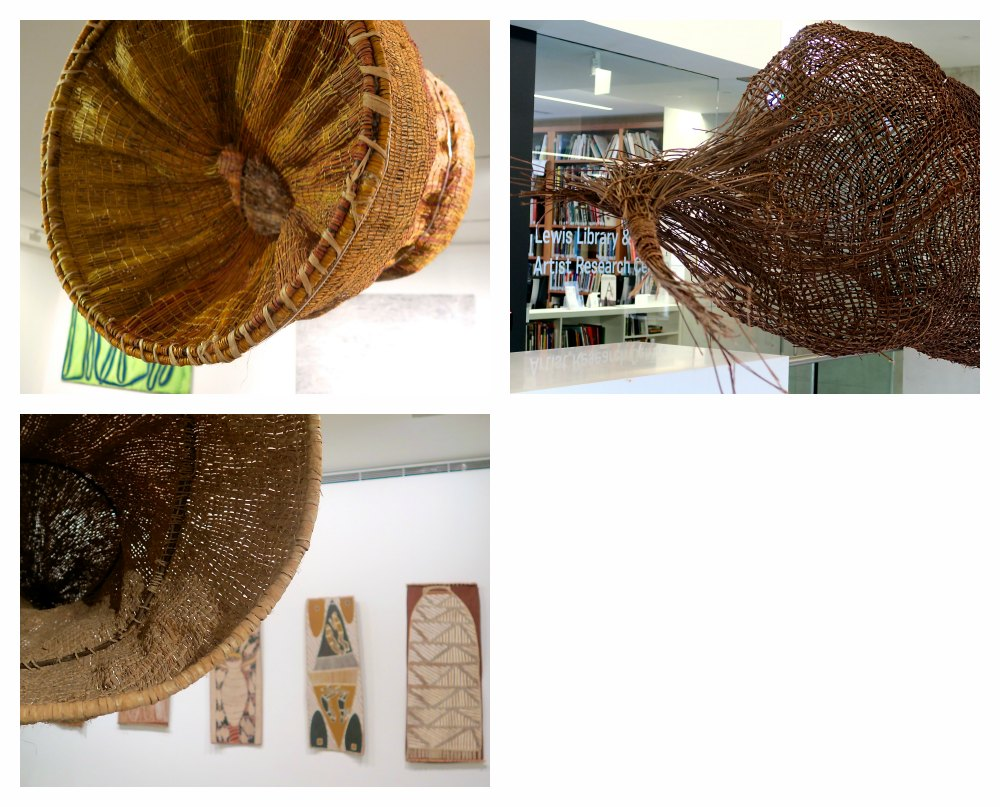 woven baskets in the MCA Sydney |curlytraveller.com