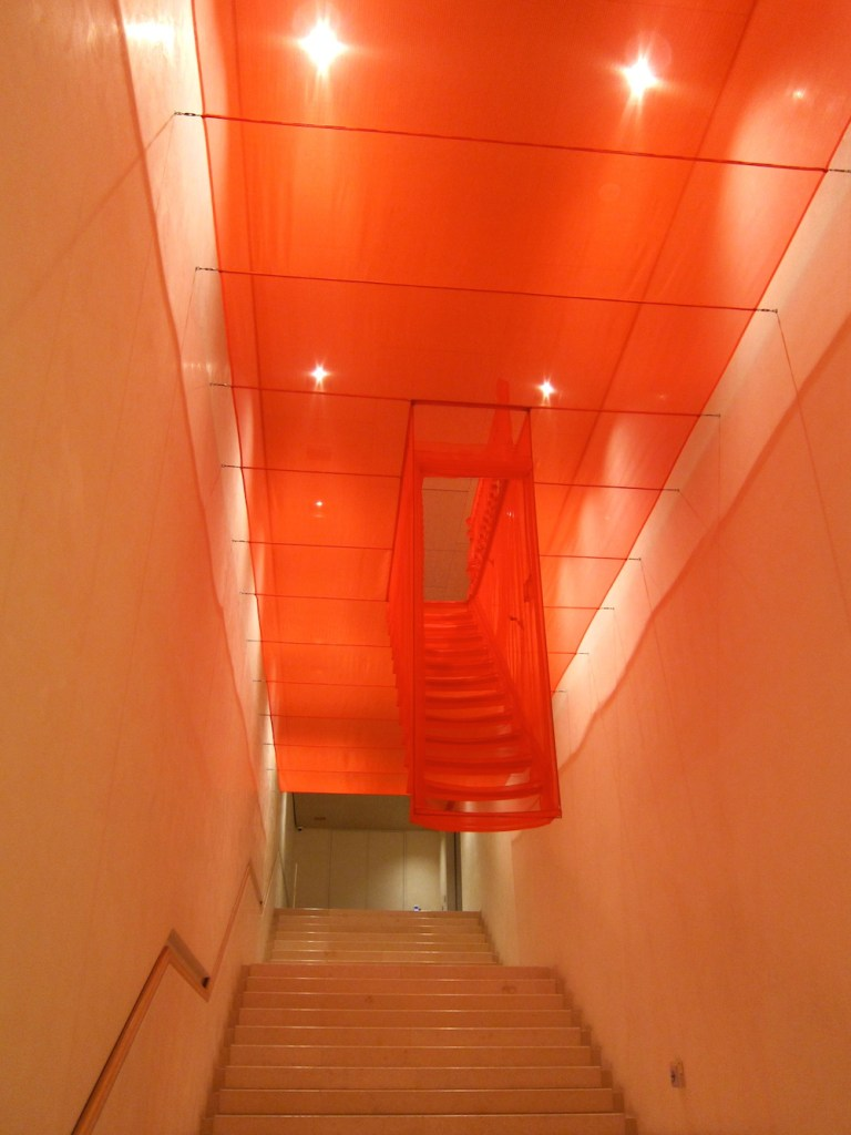 Hanging fabric stairs by Do-Ho Suh at the Leeum curlytraveller.com