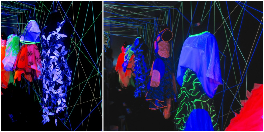 glow-in-the-dark fashion by NAFA students |curlytraveller.com