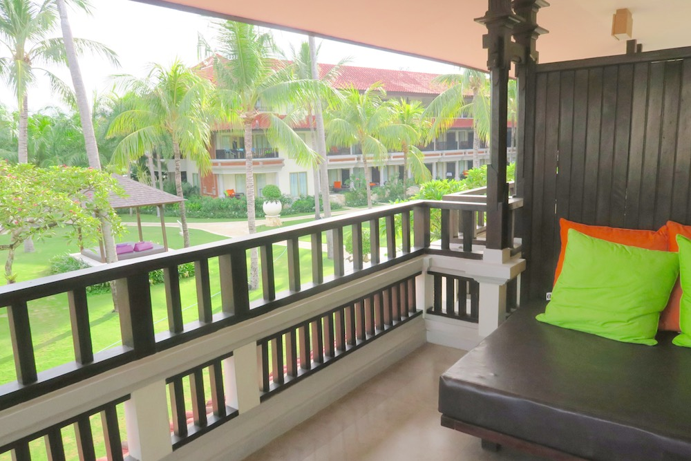 Pation in front of suite at Holiday Inn Baruna |curlytraveller.com