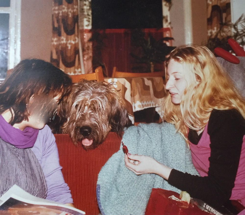 Two women and a briard |curlytraveller.com