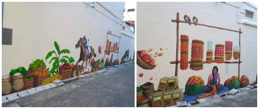 Race horses galop through Little India in this mural |curlytraveller.com