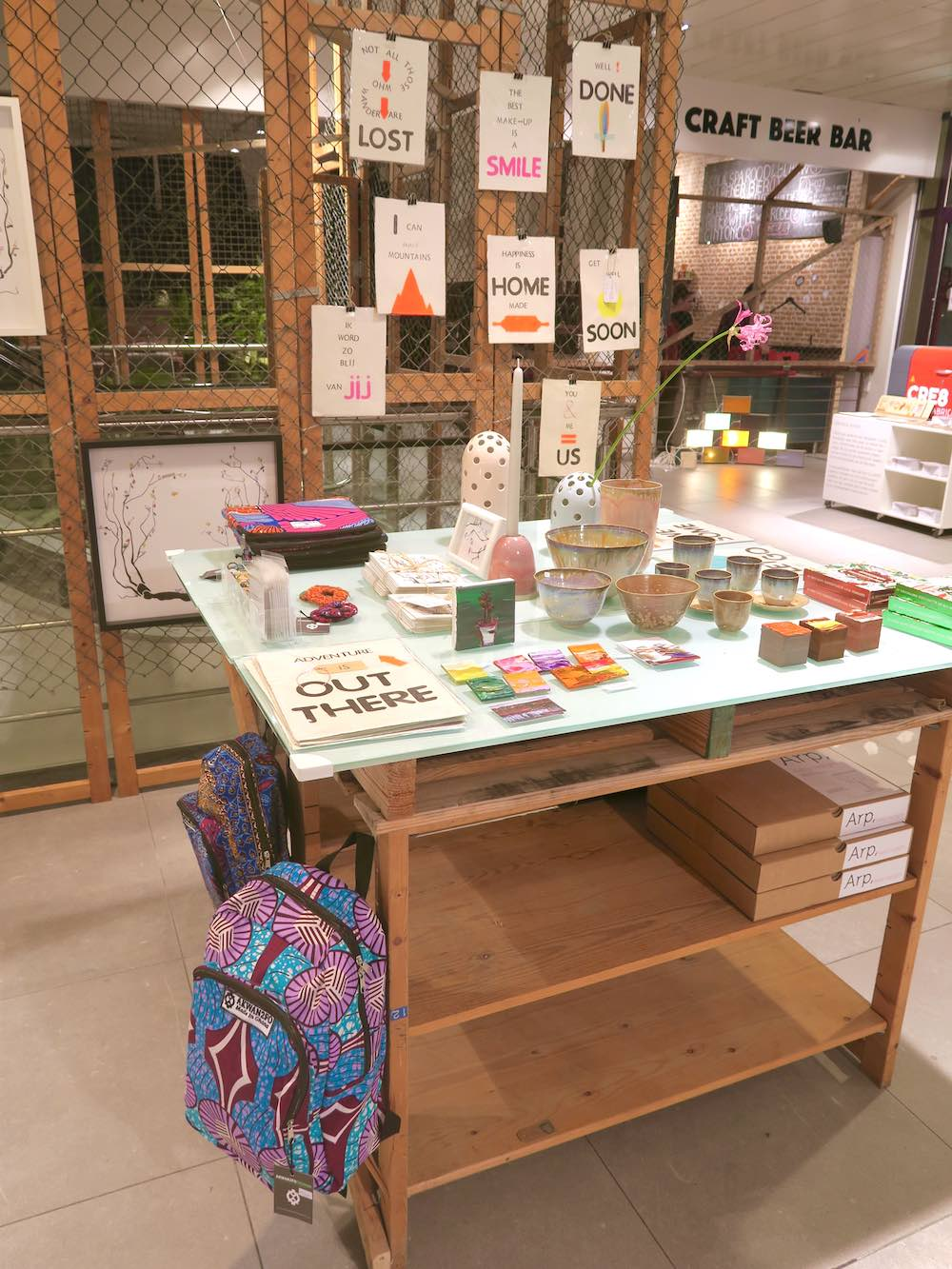 A mix of artisanal products at Gather Haarlem  curlytraveller.com