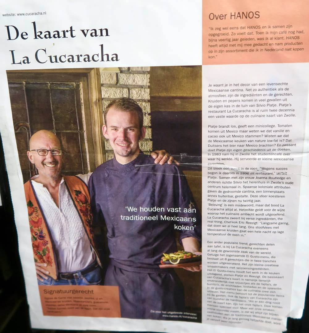 Interview with Silvio and chef from La cucaracha Zwolle |curlytraveller.com