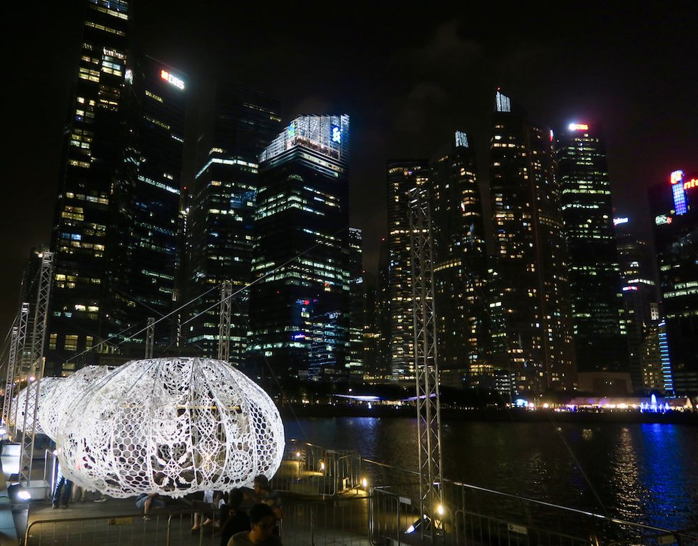 Row of Urchins at iLight Marina Bay Singapore |curlytraveller.com