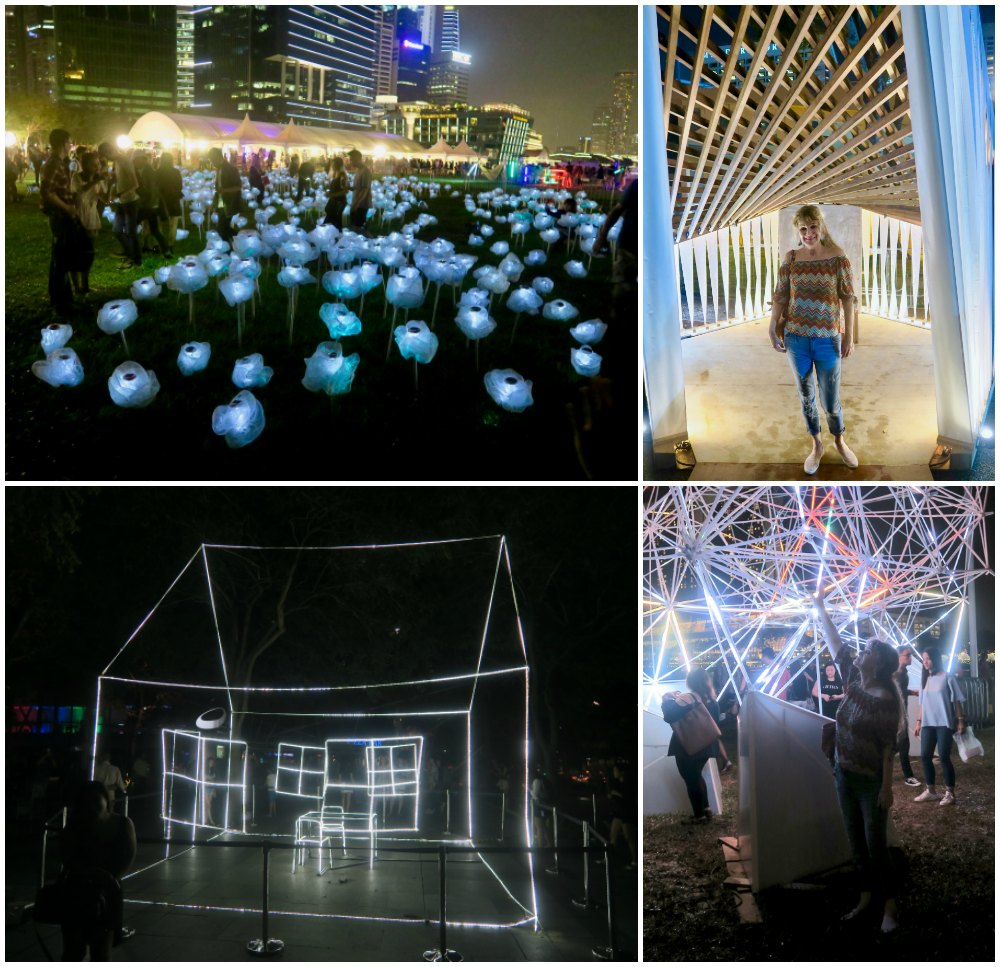 Various light art installations at iLight Marina Bay |curlytraveller.com