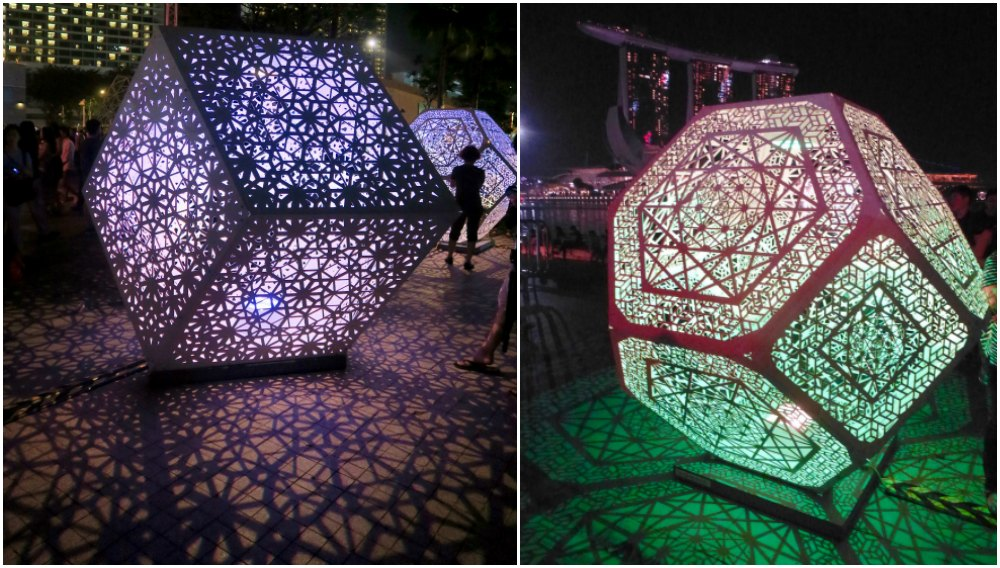 Cubes at iLight Marina Bay Singapore |curlytraveller.com