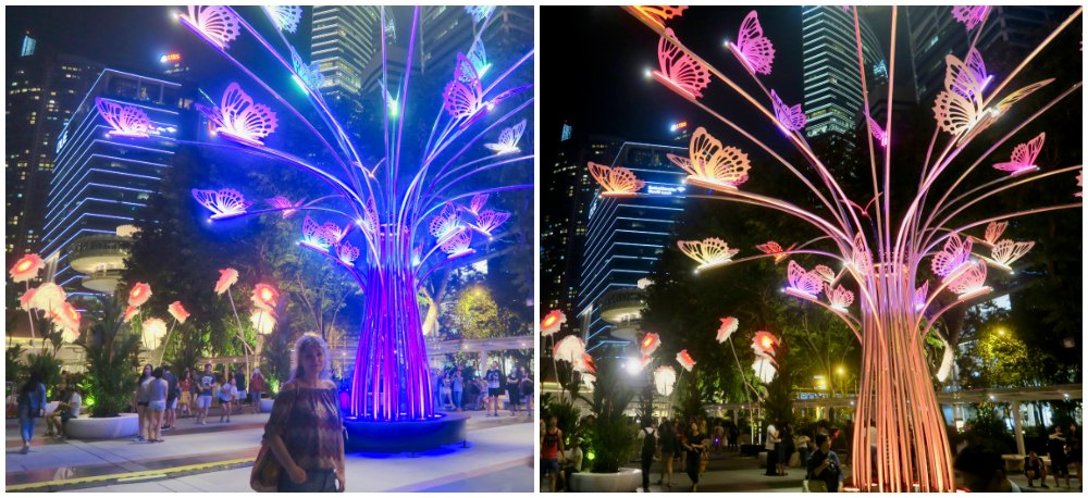 The Colourful Garden of Light at iLight Marina Bay |curlytraveller.com