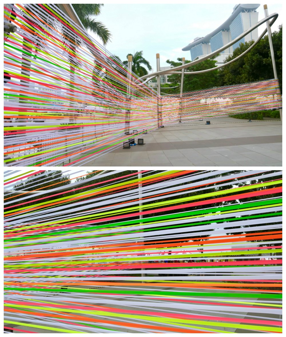Colorful ribbons at iLight Marina Bay Singapore 2017 |curlytraveller.com
