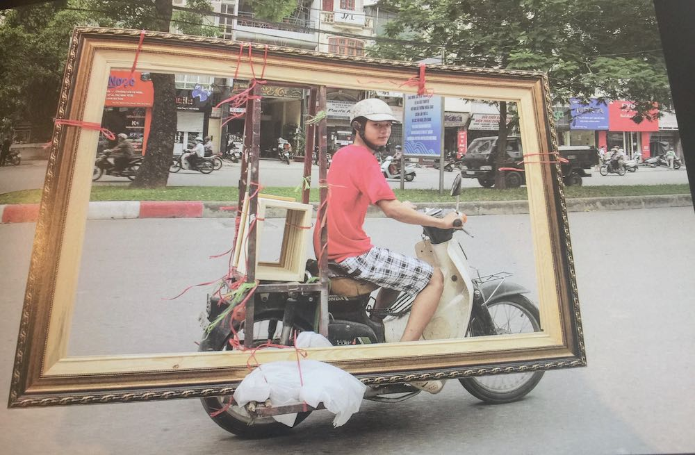 A bike filled with picture frames |curlytraveller.com