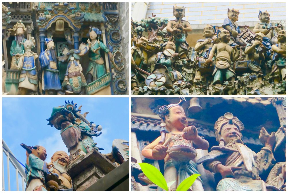 Details of dioramas at temples Cholon |curlytraveller.com