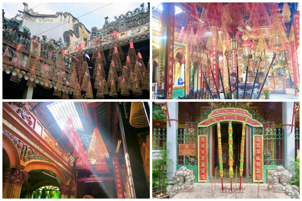 Incense in temples in Cholon Saigon |curlytraveller.com