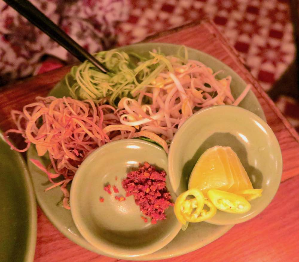 Ingredients for pho at Propaganda Saigon |curlytraveller.com