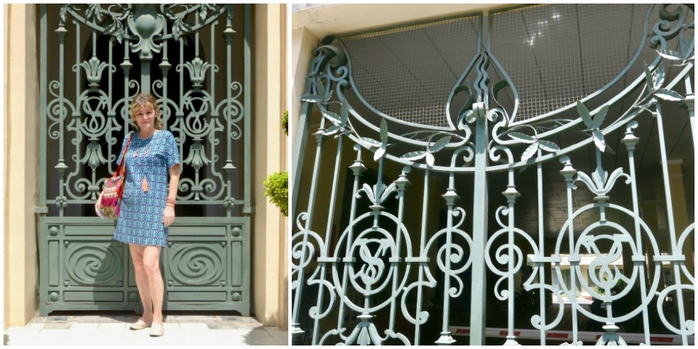 Wrought iron gate at City Hall Saigon |curlytraveller.com