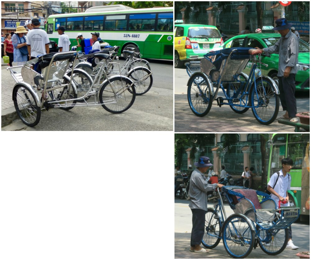 Bike taxis in Saigon |curlytraveller.com