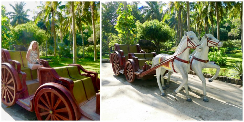 Woman in stone carriage on Phu Quoc |curlytraveller.com