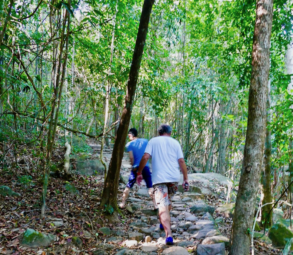 Two guys in forest on Phu Quoc |curlytraveller.com