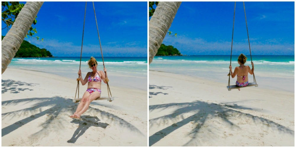 Woman on swing at Sao Beach Phu Quoc |curlytraveller.com