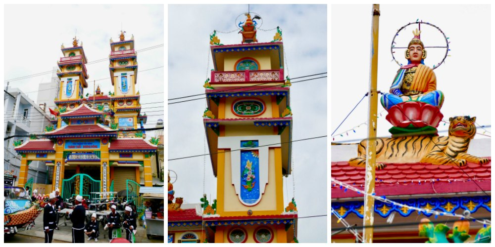 Cao Dai temple in Duong Dong |curlytraveller.com
