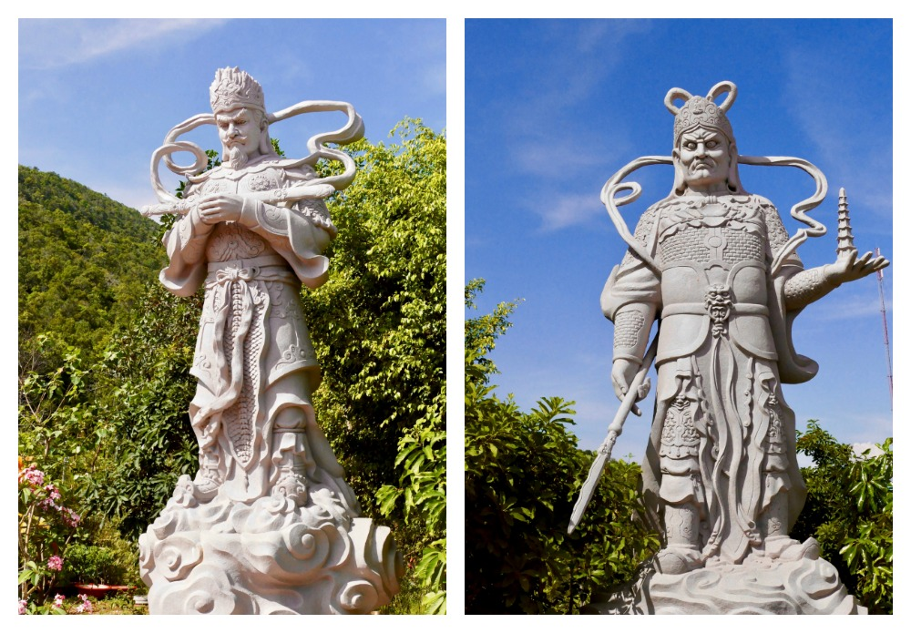 Giant warriors at Ho Quoc Pagoda |curlytraveller.com