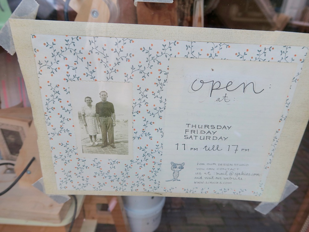 Opening hours of Sajkies Large in the Breestraat Haarlem |curlytraveller.com