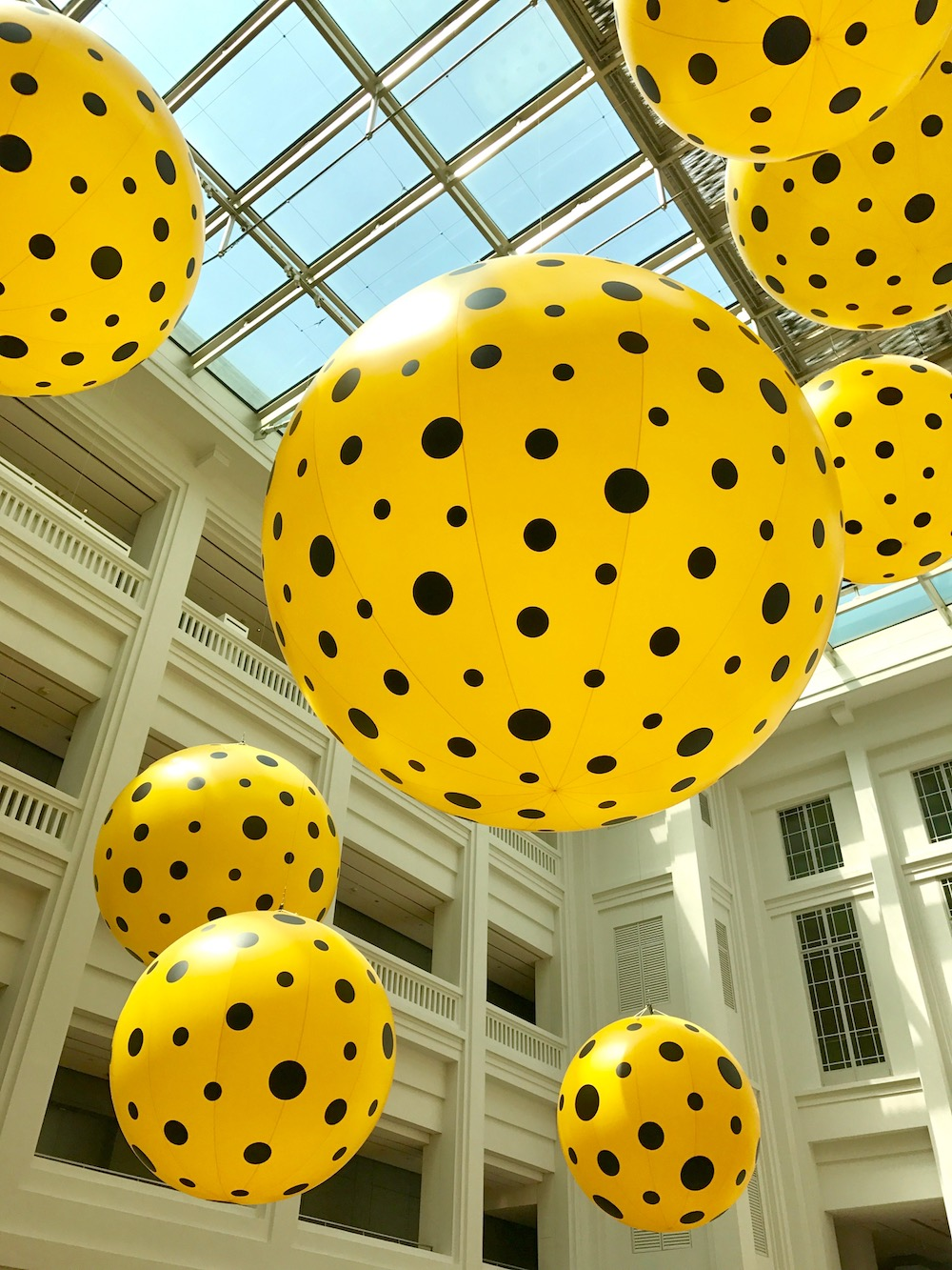 Yellow and black dotted balloons |curlytraveller.com