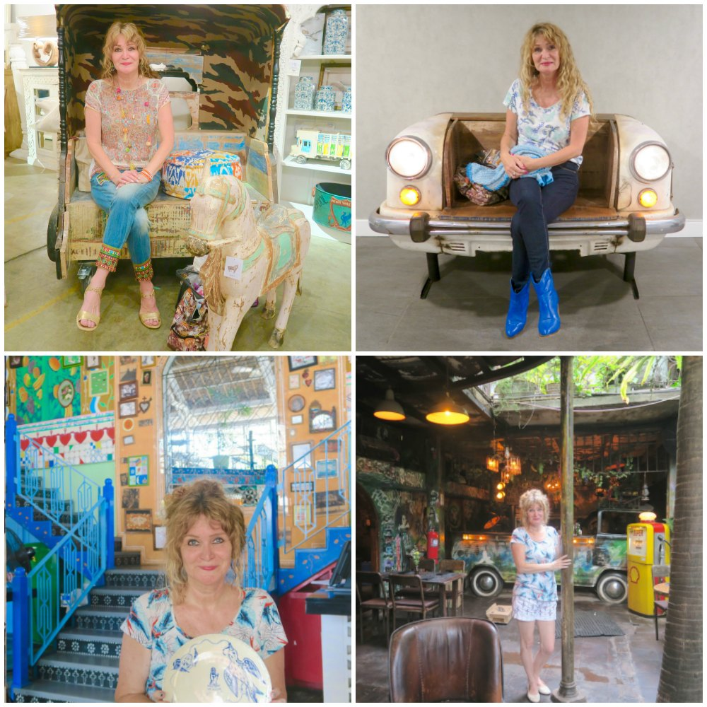 Woman in quirky decors and settings |curlytraveller.com