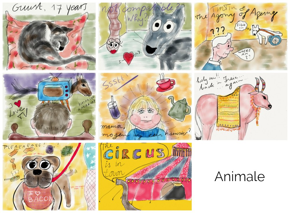Animal sketches made with the app Paper53 |curlytraveller.com