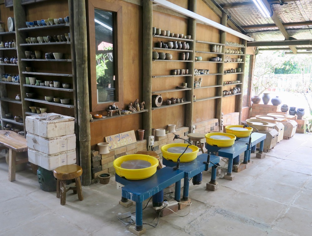 Pottery tools at Thow Kwang Pottery Jungle |curlytraveller.com