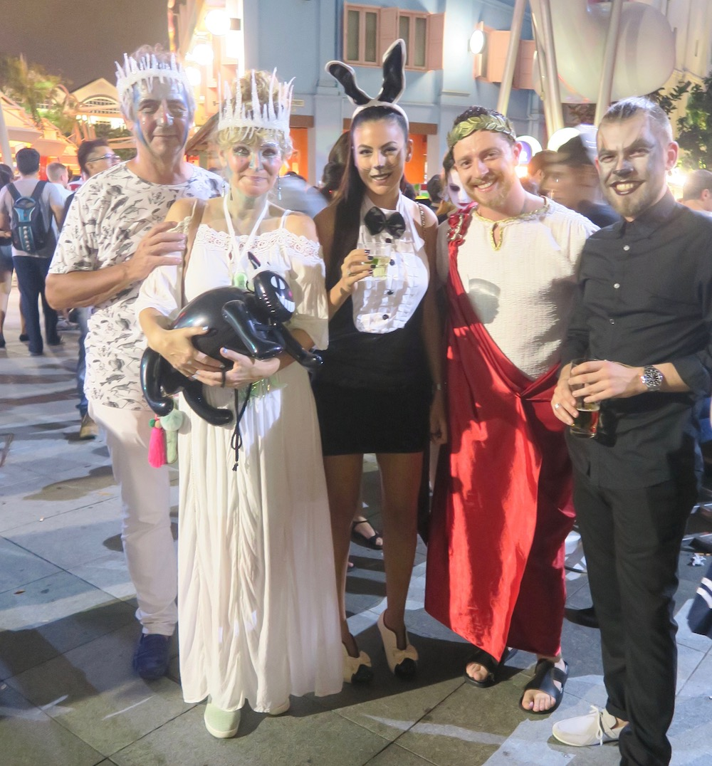 People dressed up for Halloween at Clarke Quay Singapore |curlytraveller.com