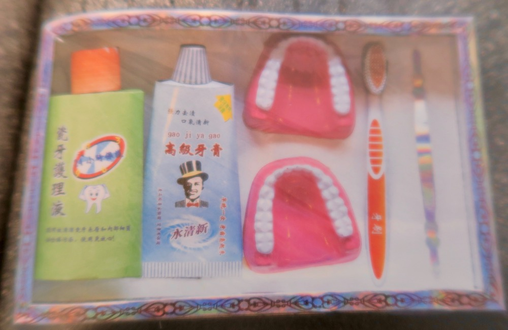 Dentures made from paper for offerings in Singapore |curlytraveller.com