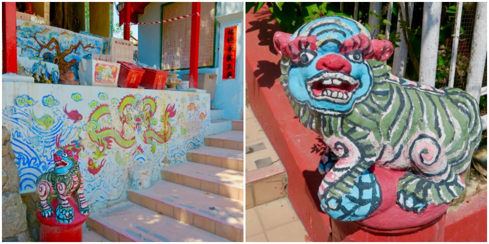 Decorations at Chinese temple on Kusu Island |curlytraveller.com