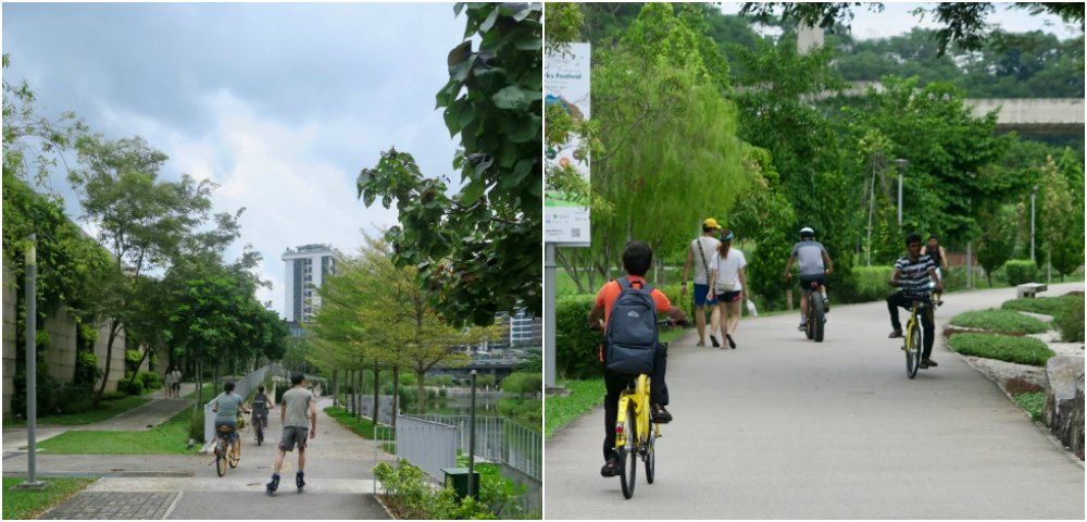 People using Punggol's many excellent footpaths |curlytraveller.com