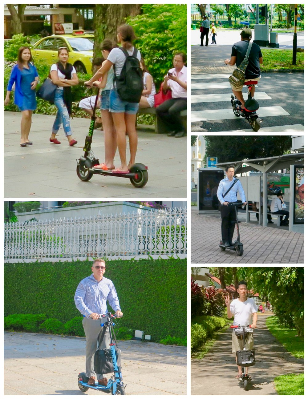 Various people using a PEV |curlytraveller.com