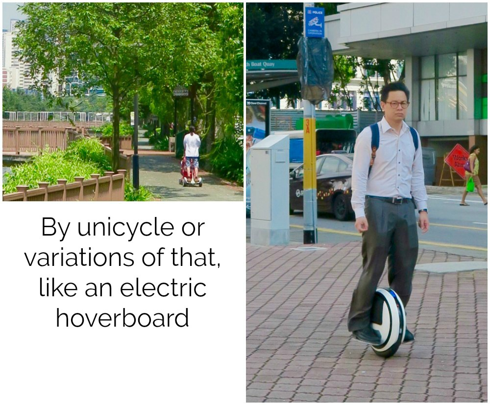 Men on hoverboard and unicycle |curlytraveller.com