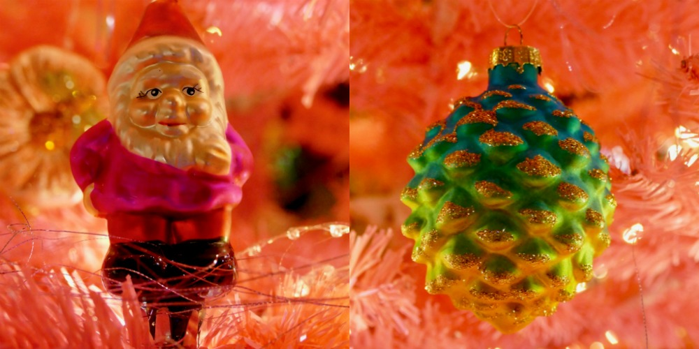Gnome and pince cone christmas ornaments |curlytraveller.com