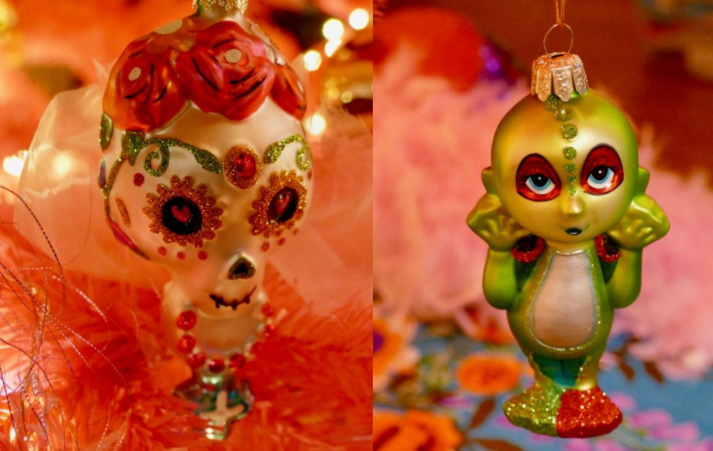 Day of the Dead christmas ornament |curlytraveller.com